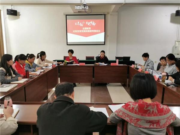 市妇联召开对照党章党规找差距专题会议